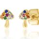 tai Gold Mushroom Post Earring