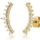 tai Multi Pear Shaped CZ Climber Earrings