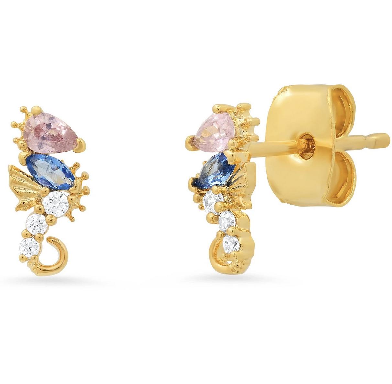 tai Multi Colored Glass Seahorse Earring