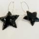 Metrix Jewelry Black Star Hoop Earrings