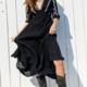 En Creme Marnie Dress-Black