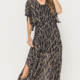 En Creme Giselle Dress-Black/Gold