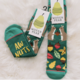 Woven Pear Aw Nuts Crew Socks