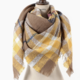 ePretty Yellow/Taupe/Red Plaid Blanket Scarf