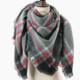 ePretty Charcoal/Black/Red Plaid Blanket Scaf