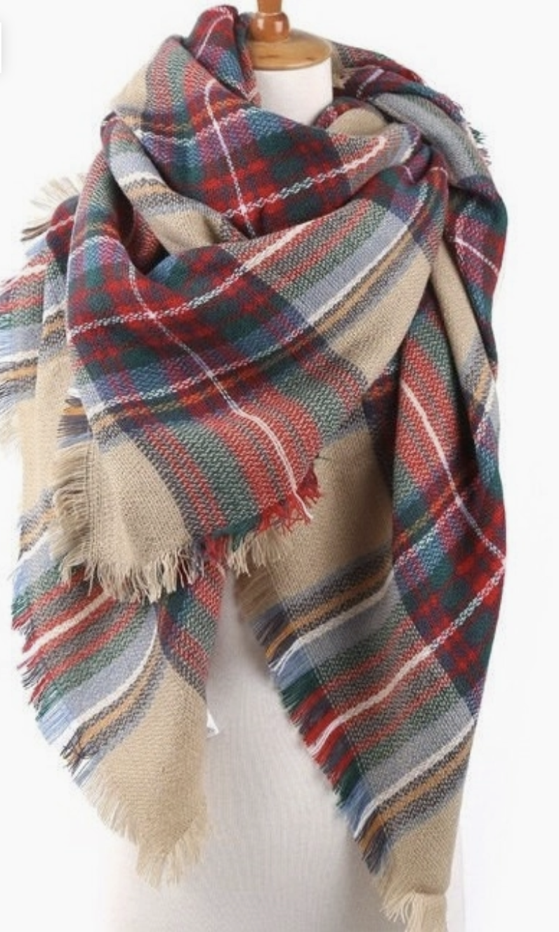 ePretty Classic Plaid Blanket Scarf