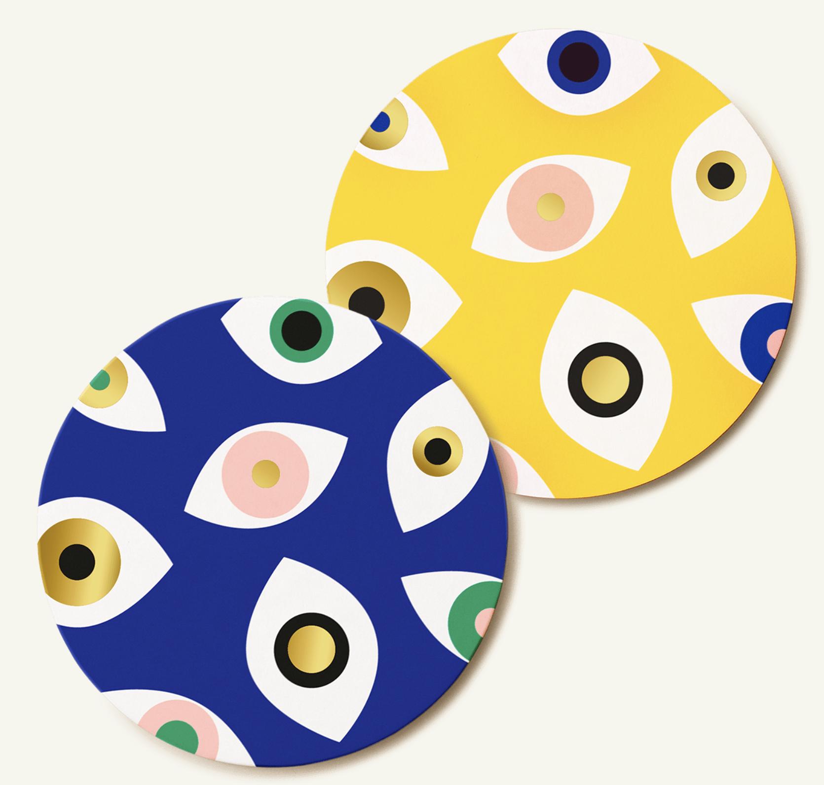 Fiorentina Reversible Cocktail Coasters- Nazar