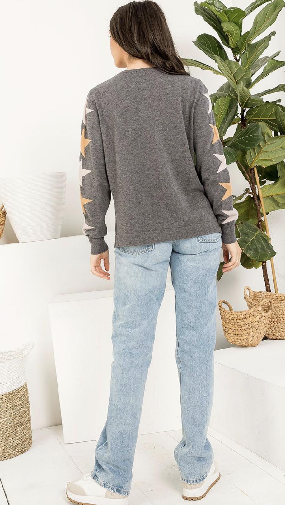 THML Falling Stars Sweater-Grey