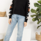 THML Falling Stars Sweater-Black