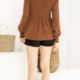 THML Smocked Leopard Top-Rust