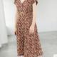 THML Napoli Button Down Dress-Rust