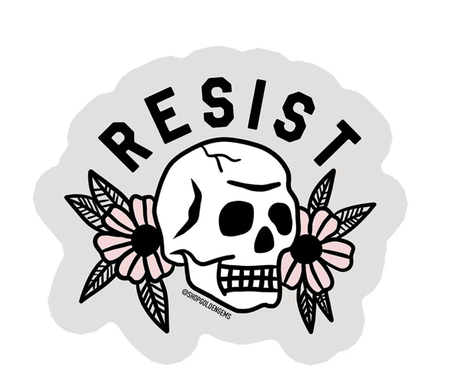 Golden Gems Resist Sticker