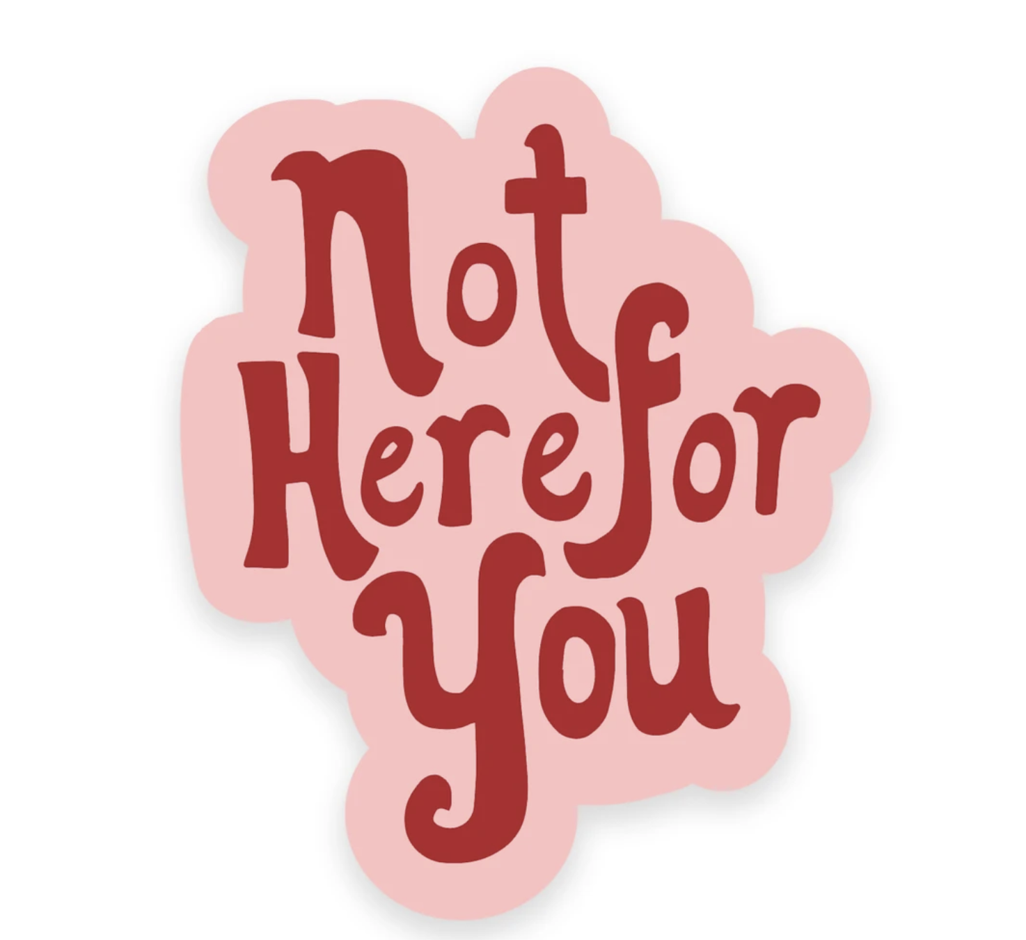 Golden Gems Not Here For You Sticker