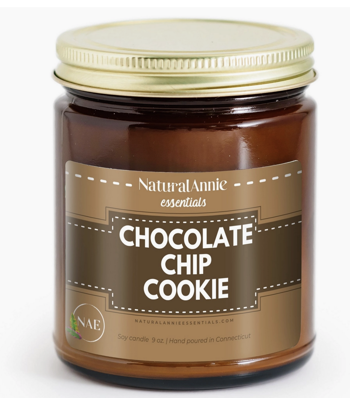 NaturalAnnie Essentials CHOCOLATE CHIP COOKIES Scented Soy Candle 9oz