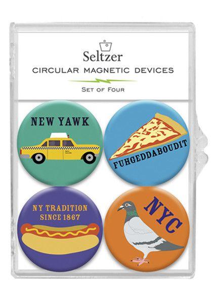 Seltzer Magnet Set - NY Icons
