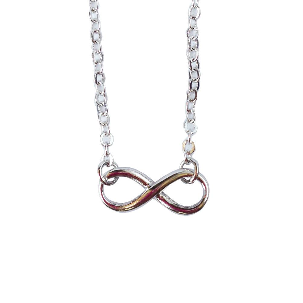 Rebecca Infinity Necklace - Silver