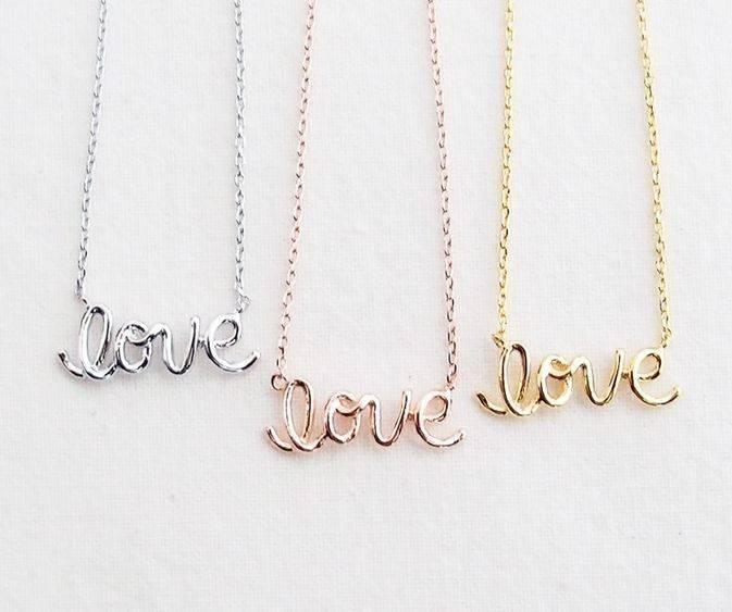 Rebecca Love Necklace - Silver