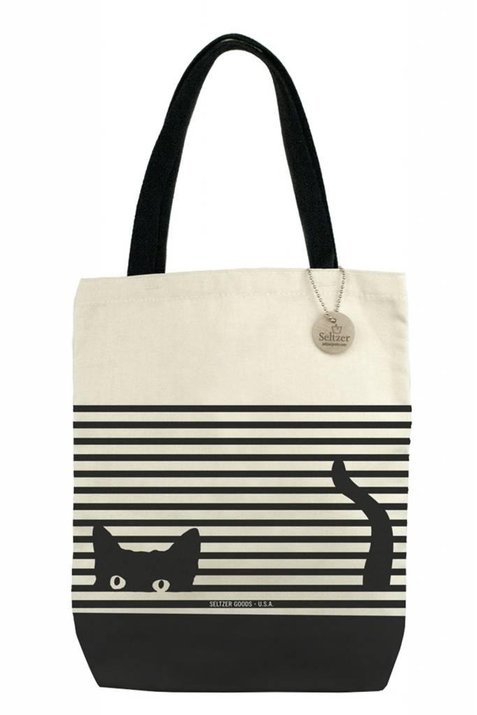 Seltzer Book Tote - Cat Stripes