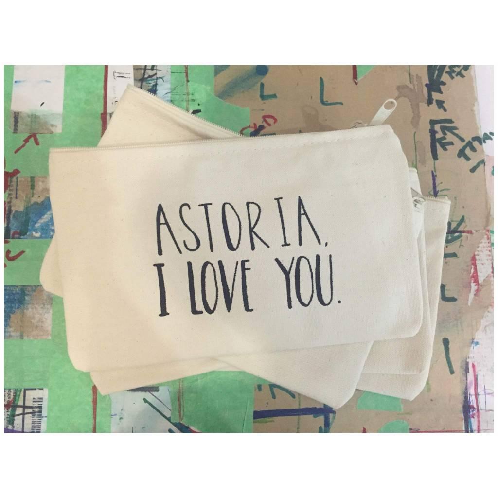 Lovewild Astoria, I love you zip pouch