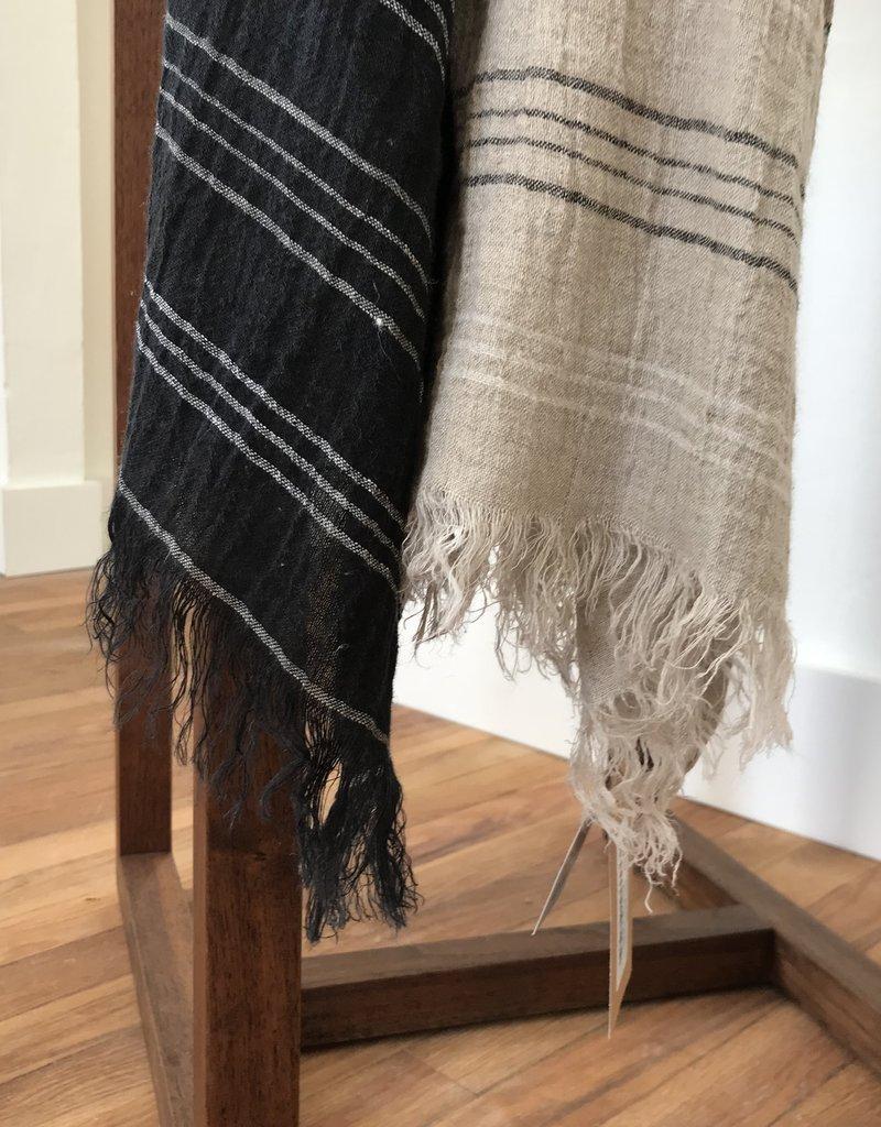 ICHI Antiquités ICHI Stripe Linen Stole