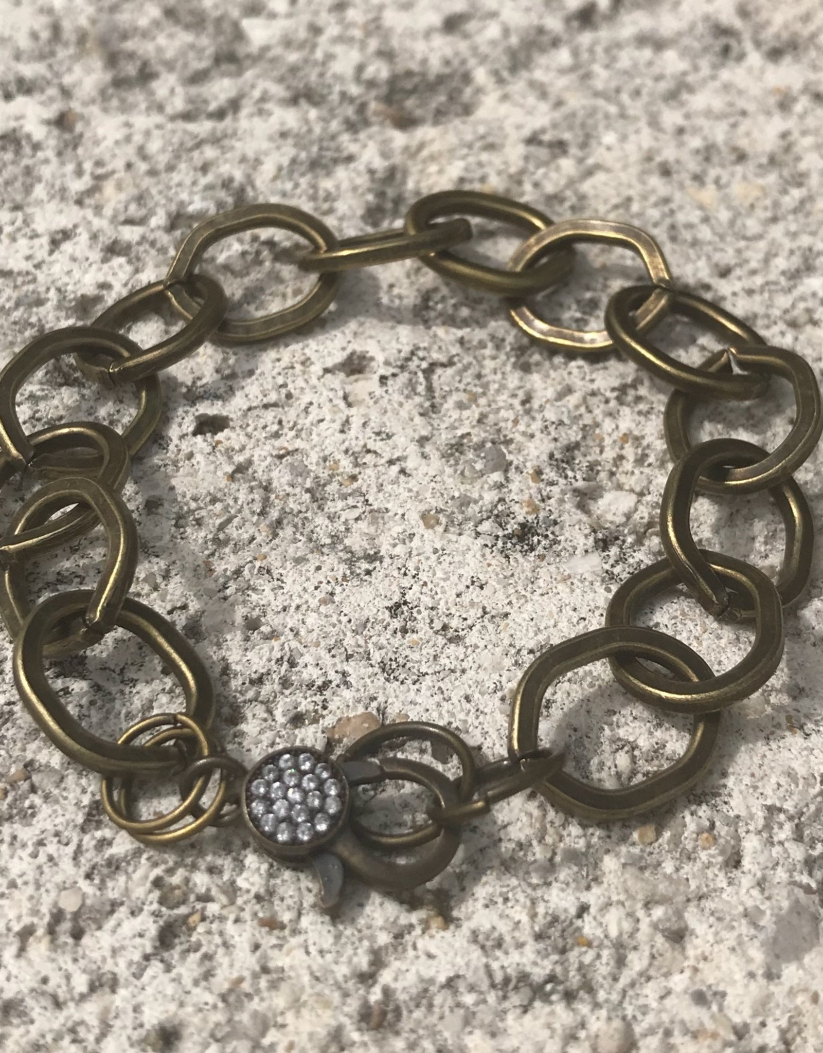 Marly Moretti Marly M Pave/Brass Chain Bracelet