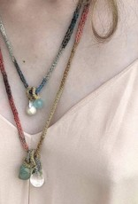 LA VIE BOHEME L.V.B. red/orange/gold Chain Necklace