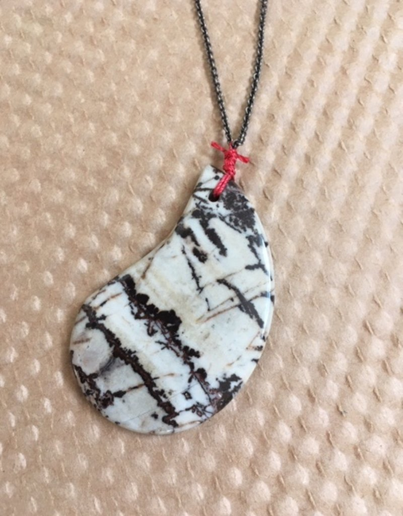 WS Agate & Sterling Necklace