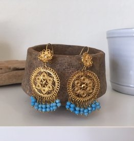 MEX Handmade MEX Handmade gold/bead earrings