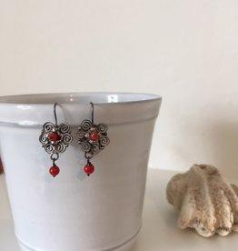 MEX Handmade MEX Handmade sterling/coral earrings