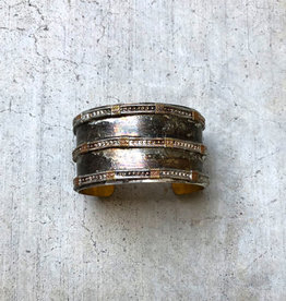 Mikal Winn Mikal Three Line Brass Cuff