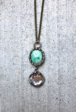Mikal Winn Mikal N792 necklace turquoise & crystal drop