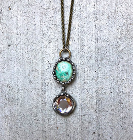 Mikal Winn Mikal necklace turquoise & crystal drop