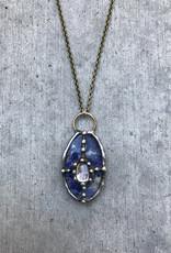 Mikal Winn Mikal N768 necklace with sodalite clear crystal