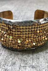 Mikal Winn Mikal CG144c small cuff with gold mesh