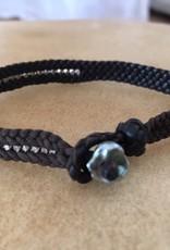 ISHI Ishi Leather And Silver Bracelet