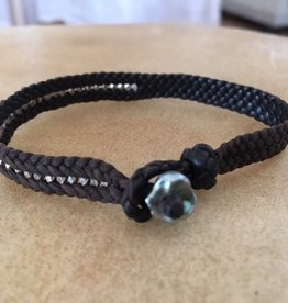 ISHI Ishi Leather And Silver Bracelet