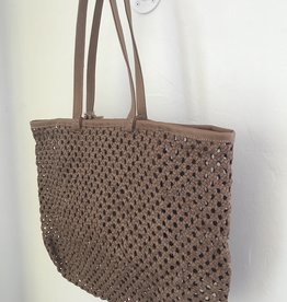 Enshallah LTD En Shallah Handwoven Leather Tote