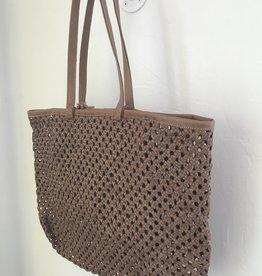 Enshallah LTD EnSh Handwoven Leather Tote