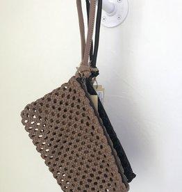 Enshallah LTD EnSh Leather WristZip clutch