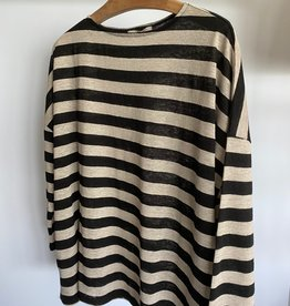 ICHI Antiquités ICHI Stripe Linen Top