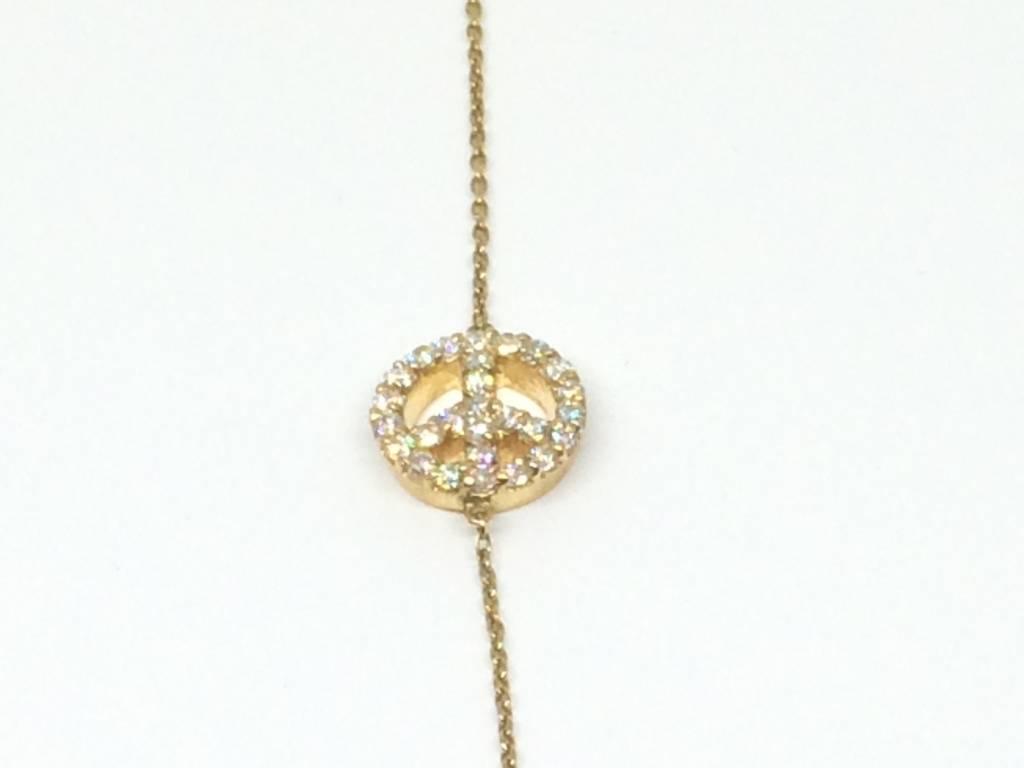ST+ M Welcome Shoppe House Diamond Peace Necklace