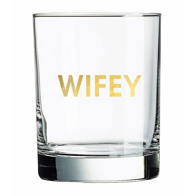 Wifey Rocks Glass