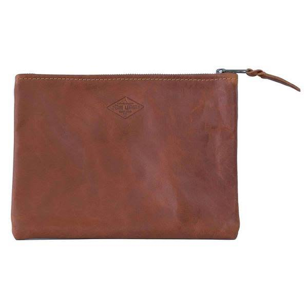 Lifetime Leather Co Leather Clutch -Brandy