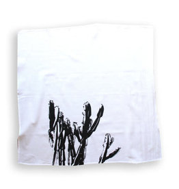 Nesta Home Cactus Dish Towel B/W