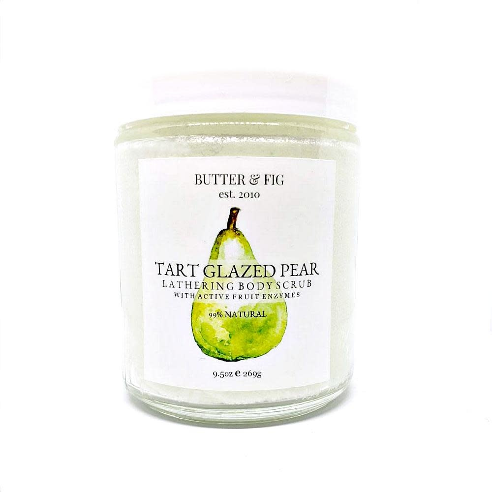 butter and fig Tart Pear Body Scrub