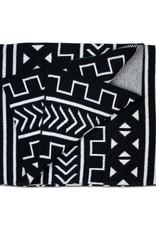 Savannah Hayes Mali Throw Blanket Black