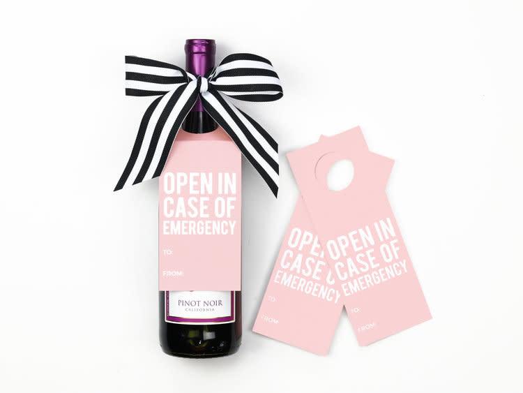 when it rains paper co. Emergency wine tags