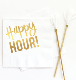 when it rains paper co. happy hour white napkins