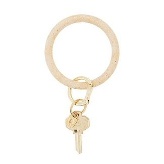 Big O Gold Confetti Silicone Key Ring