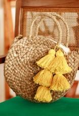 brunna co Petite Luna Bag-Yellow Tassels